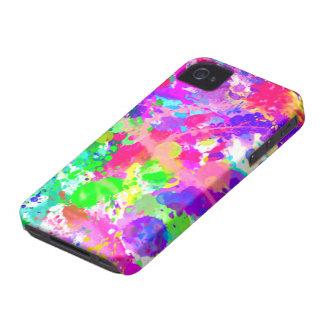 Paint splash colourful iPhone 4 cover