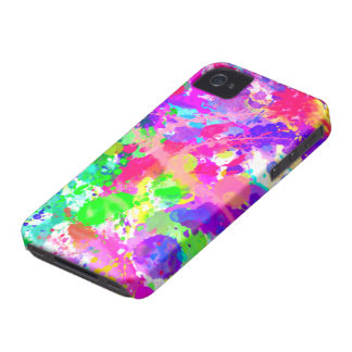 Paint splash colourful iPhone 4 cover