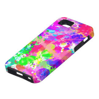 Paint splash colourful tough iPhone 5 case