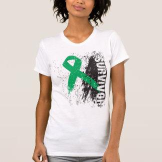 Paint Splash Design - Liver Cancer Survivor T-shirt