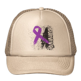 Paint Splash Design - Pancreatic Cancer Survivor Hats
