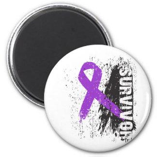 Paint Splash Design - Pancreatic Cancer Survivor Magnets