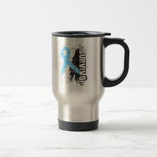 Paint Splash Design - Prostate Cancer Survivor Stainless Steel Travel Mug
