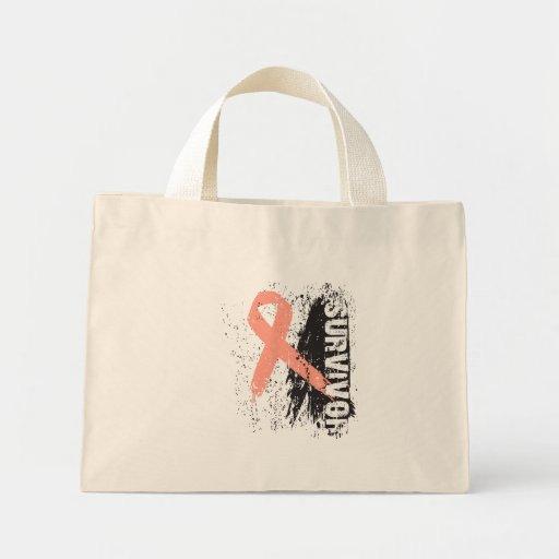 Paint Splash Design - Uterine Cancer Survivor Canvas Bags