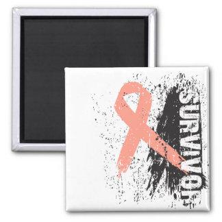 Paint Splash Design - Uterine Cancer Survivor Magnet