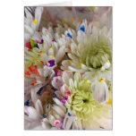 Paint Splash Flower Birthday Frameable 7x5 Card Greeting Card