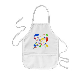 Paint splash kids apron