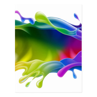 Paint Splash Postcard