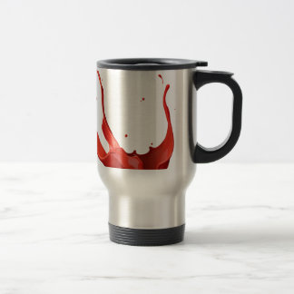 Paint splash travel mug