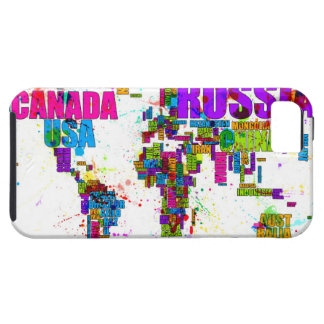 Paint Splashes Text Map of the World iPhone 5 Case