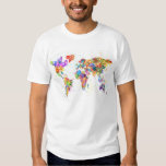 Paint Splashes Text Map of the World Tshirts
