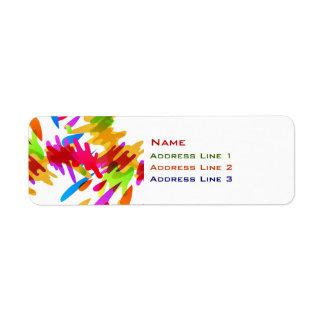 Paint Splat Return Address Label