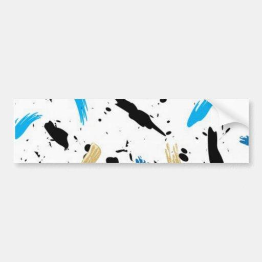 Paint Splats Bumper Sticker