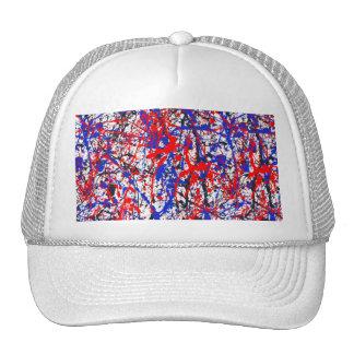 Paint Splatter Abstract Art Cap