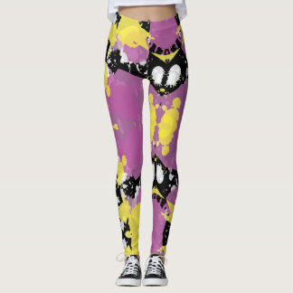 Paint Splatter Abstract Art Leggings