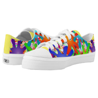 Paint Splatter Abstract Art Low Top Shoes Printed Shoes