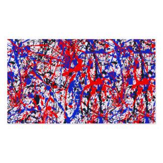 Paint Splatter Abstract Art Pack Of Standard Business Cards
