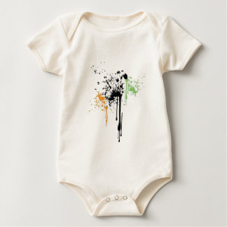 paint splatter baby bodysuit