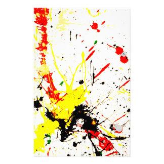 Paint Splatter Background 1 Custom Stationery