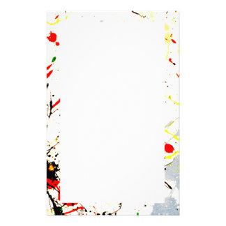Paint Splatter Background 1 Personalized Stationery