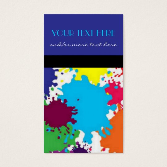 Paint Splatter Business Card