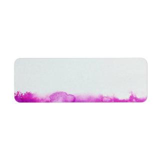 paint splatter colors address craft label return address label