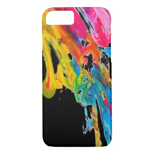paint splatter colour colours class brush stroke iPhone 7 case
