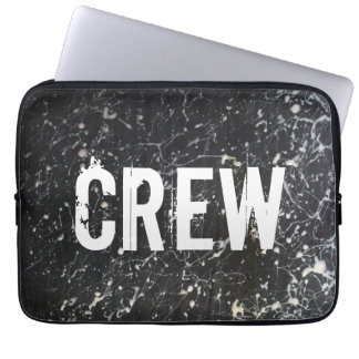 Paint Splatter CREW | Charcoal and White Laptop Computer Sleeves