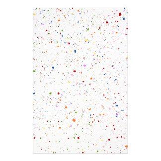 Paint Splatter Customized Stationery