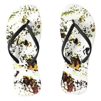 Paint Splatter Flip Flops