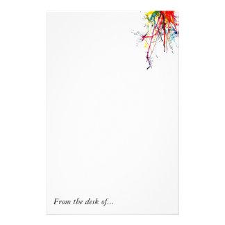 paint_splatter, From the desk of... Custom Stationery