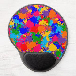 Paint Splatter Gel Mouse Pad