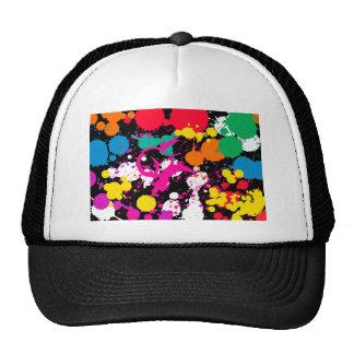 Paint Splatter Mesh Hat