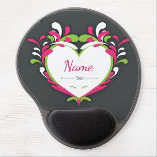 """Paint Splatter"" Heart Personalized Mousepad Gel Mouse Pad"