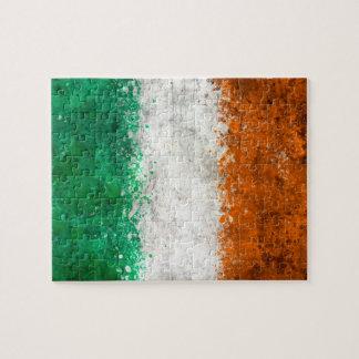 Paint Splatter Irish Flag Puzzles