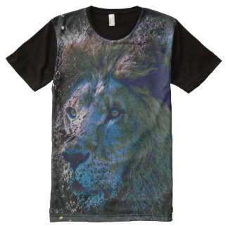 paint splatter lion All-Over print T-Shirt