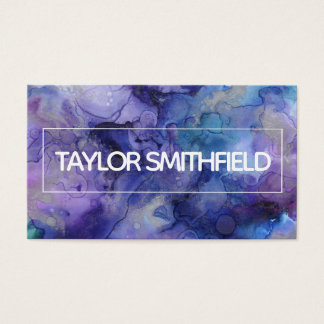 paint splatter modern trendy bold business card