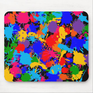 Paint Splatter Mouse Pad