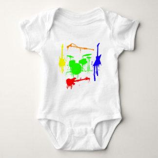 Paint Splatter Musical instruments Band Graffiti Baby Bodysuit