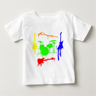 Paint Splatter Musical instruments Band Graffiti Baby T-Shirt