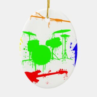 Paint Splatter Musical instruments Band Graffiti Christmas Ornament