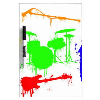 Paint Splatter Musical instruments Band Graffiti Dry Erase White Board