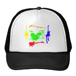 Paint Splatter Musical instruments Band Graffiti Mesh Hat