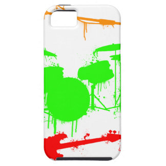 Paint Splatter Musical instruments Band Graffiti iPhone 5 Cover