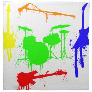 Paint Splatter Musical instruments Band Graffiti Napkin
