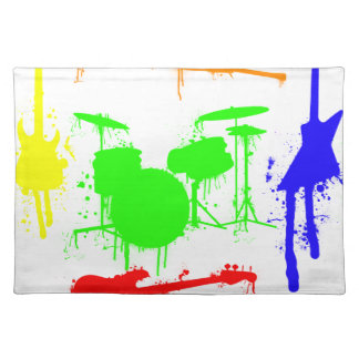 Paint Splatter Musical instruments Band Graffiti Placemat
