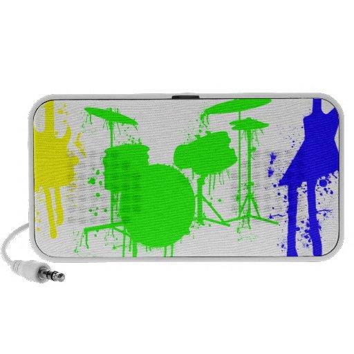 Paint Splatter Musical instruments Band Graffiti Speaker System