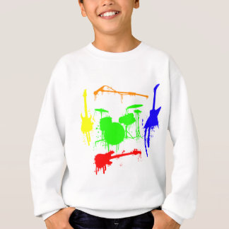Paint Splatter Musical instruments Band Graffiti Sweatshirt