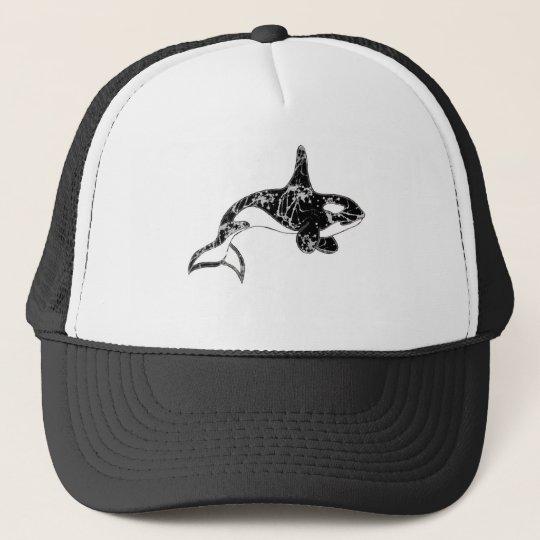 Paint Splatter Orca Art Trucker Hat
