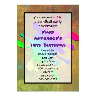 Paint Splatter Paintball Birthday Card